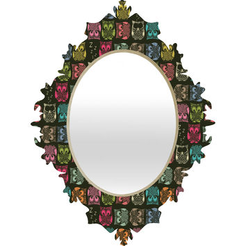 Sharon Turner Sherbet Owls Baroque Mirror