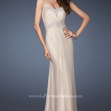 Strapless Sweetheart Formal Gown by La Femme