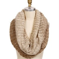 infinity taupe ombre scarf