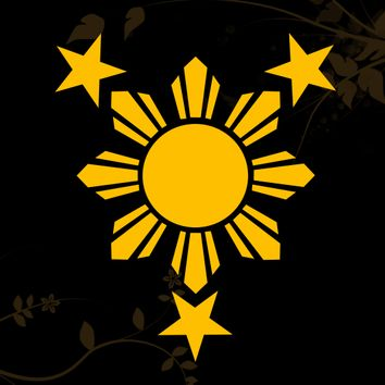 3 Stars and Sun Filipino Philippines Flag  Decal for your Car, Walls, Laptops