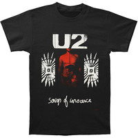 U2 Men's  Songs Of Innocence T-shirt Black Rockabilia