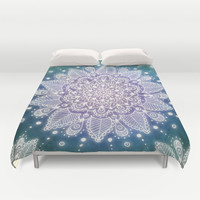 Peacock Mandala Duvet Cover by Jenndalyn | Society6