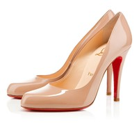 Decollete 868 100mm nude patent leather