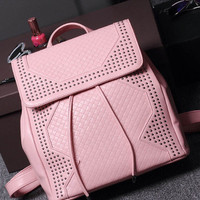 Brand Like Fashion Leather Shoulder Candy Multi Color Women Casual Messenger Bags Chic Backpack Bag  _ 8288