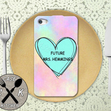 Future Mrs. Hemmings Pastel Pink Tumblr Candy Heart 5sos Custom Rubber Tough Phone Case For The iPhone 4 and 4s and iPhone 5 and 5s and 5c