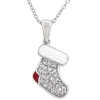 Red And White Stocking Pendant
