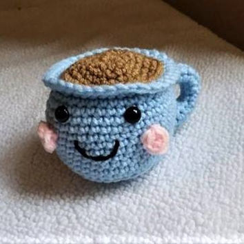 Crochet Coffee Cup,  Amigurumi Food, Coffee Mug, Coffee Amigurumi, Play Food, Coffee Plush, Crochet Toy, Handmade Plush