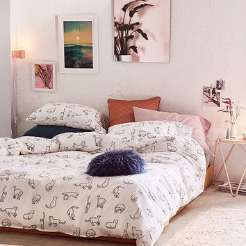 Cat Nap Duvet Cover | Urban Outfitters