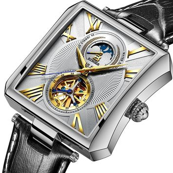 Men Sapphire Binger Watch Tourbillon Wrist watch