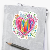 'I Love Your Heart' Sticker by noondaydesign