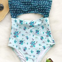 Cupshe Lost Butterfly Print One-piece Swimsuit