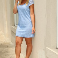 When In Romance Dress: Powder Blue - What's New - Hope's Boutique