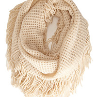 FOREVER 21 Waffle Knit Infinity Scarf Oatmeal One