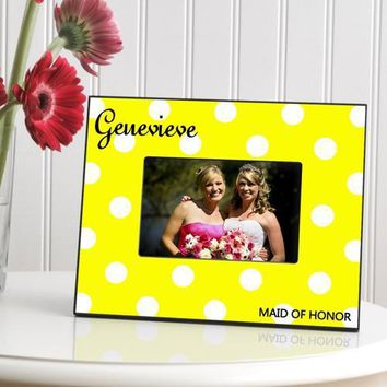 Polka Dot Frame - Yellow