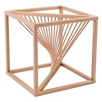 Twisted Cube Antique Brass
