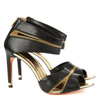 Strappy zip sandal - Black | Shoes | Ted Baker