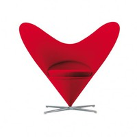Heart Cone Chair Red