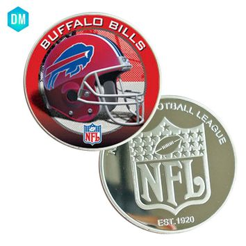 Decorative Souvenir Gift BUFFALO BILLS 999.9 Silver Plated Metal Coin US NFL Challenge Coin Art Ornament