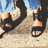 Free People Date Night Mini Wedge Sandal