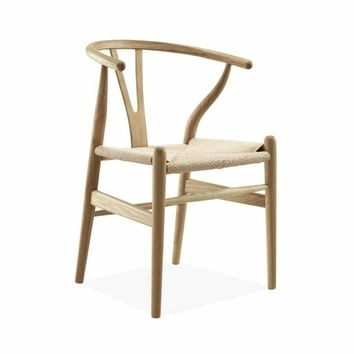 Inspired By Hans J. Wegner Wishbone Chair CH24 Y Chair - Ash