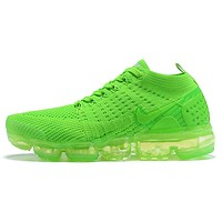 Nike Air VaporMax  New fashion women sports leisure air cushion shoes green