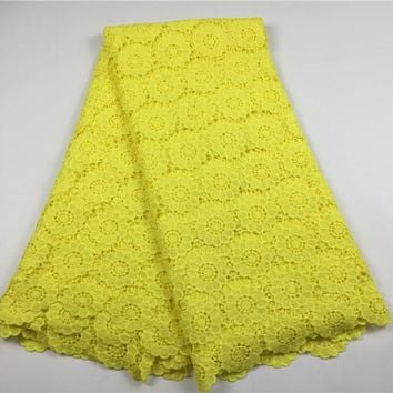 African Cotton Cord Lace Fabric Hot Sell Guipure Lace Fabrics High Quality