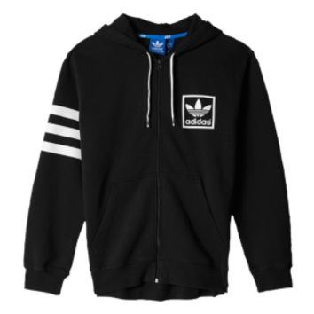 adidas men's originals 3foil full zip hoodie