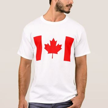 T Shirt with Flag of Canada