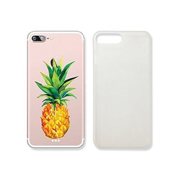 Tropical Fruit Summer Pineapples Pattern Slim Iphone 7 Case, Clear Iphone 7 Hard Cover Case For Apple Iphone 7 -Emerishop (AH1332.7sl)