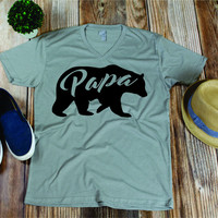 Papa Bear T-shirt, Fathers Day shirt