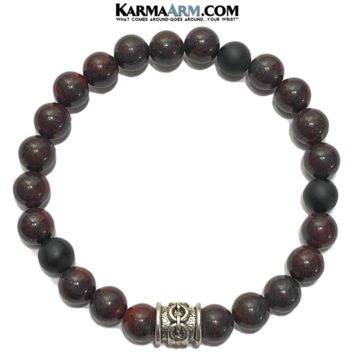 COURAGE | Bloodstone | Black Onyx Bracelet