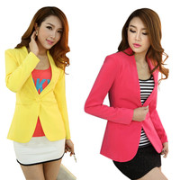 New  Women Blazer Spring Slim Top Elegant Double Breasted Short Design Plus Size Blazer Suit Female Suit & Women Work Wear