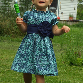 Navy and mint dress, Navy and Mint peasant dress, Navy and mint outfit, Navy and Mint wedding, Navy and mint birthday, Navy and mint party