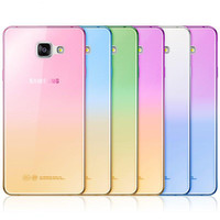 Fashion Soft TPU Gradient Color Back Cover Case for Samsung Galaxy A3 A5 A7 2016 J1 J3 J5 J7 S3 S4 S5 S6 S7 Edge Grand Prime