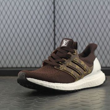 LMFON Adidas Boost UB 3.5 Louis Vuitton x Women Men Fashion Trending Running Sneakers Khaki