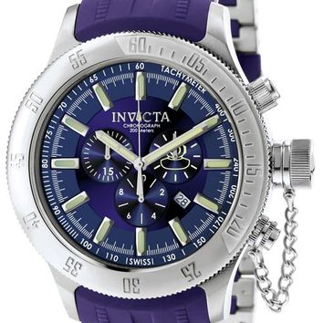 Invicta 6239 Men's Russian Divers Chronographs Stainless Steel Blue Rubber Strap Watch