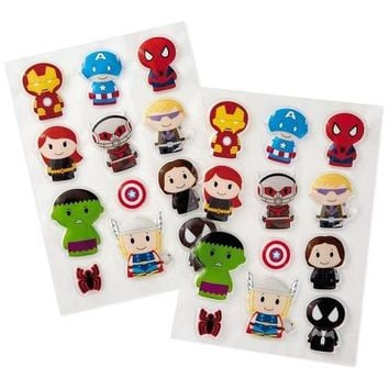itty bittys Avengers Puffy Stickers, Pack of 24