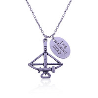 Europe And America Hot Movie The Walking Dead Necklace Daryl Bowman Bow Arrow Necklace Fine Jewelry choker necklace Free Ship