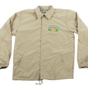 f49f5c76f GOLF RAINBOW COACH JACKET CREAM from Golfwang
