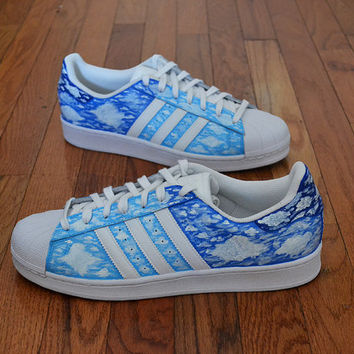 "Custom Adidas Superstar One of a Kind ""In the Clouds"""