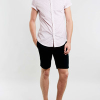White and Burgundy Floral Print Short Sleeve Shirt - Short Sleeve Shirts - Men's Shirts - Clothing- TOPMAN USA