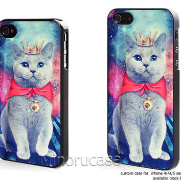 galaxy cat meow Custom case For iphone 4/4s,iphone 5,Samsung Galaxy S3,Samsung Galaxy S4 by minorucase on etsy
