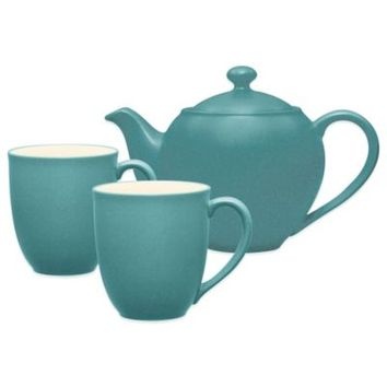 Noritake® Colorwave 3-Piece Tea-for-Two Teapot Set in Turquoise