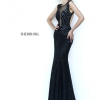 Sherri Hill 9734 Black Dress - Prom, Homecoming, Cocktail Party