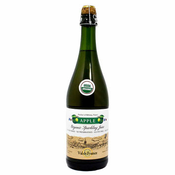 Val de France - Organic Sparkling Apple Juice, 25.4 oz