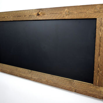 large rustic framed chalkboard or white dry erase board reclaimed wood chalkboard eco friendly