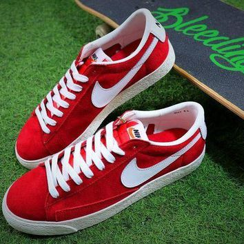 LMFUX5 New Nike Blazer Sb Red White Plate Shoes