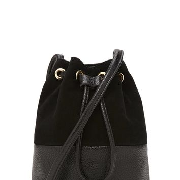Genuine Suede Bucket Bag