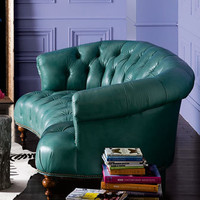 Old Hickory Tannery Turquoise Sofa - Horchow