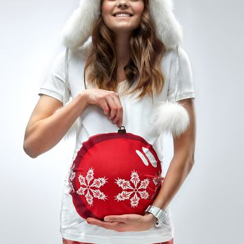"""My Bauble Bump"" - Maternity Christmas T-shirt"